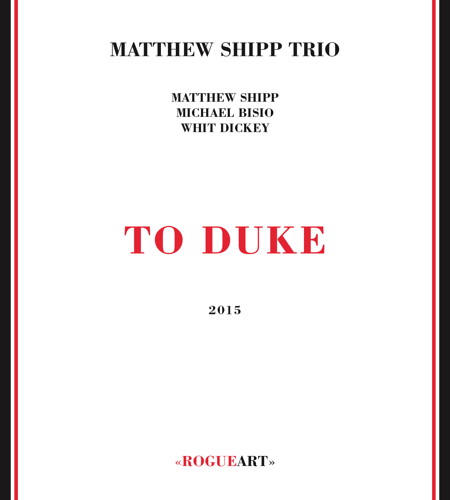 Front cover of the album TO DUKE