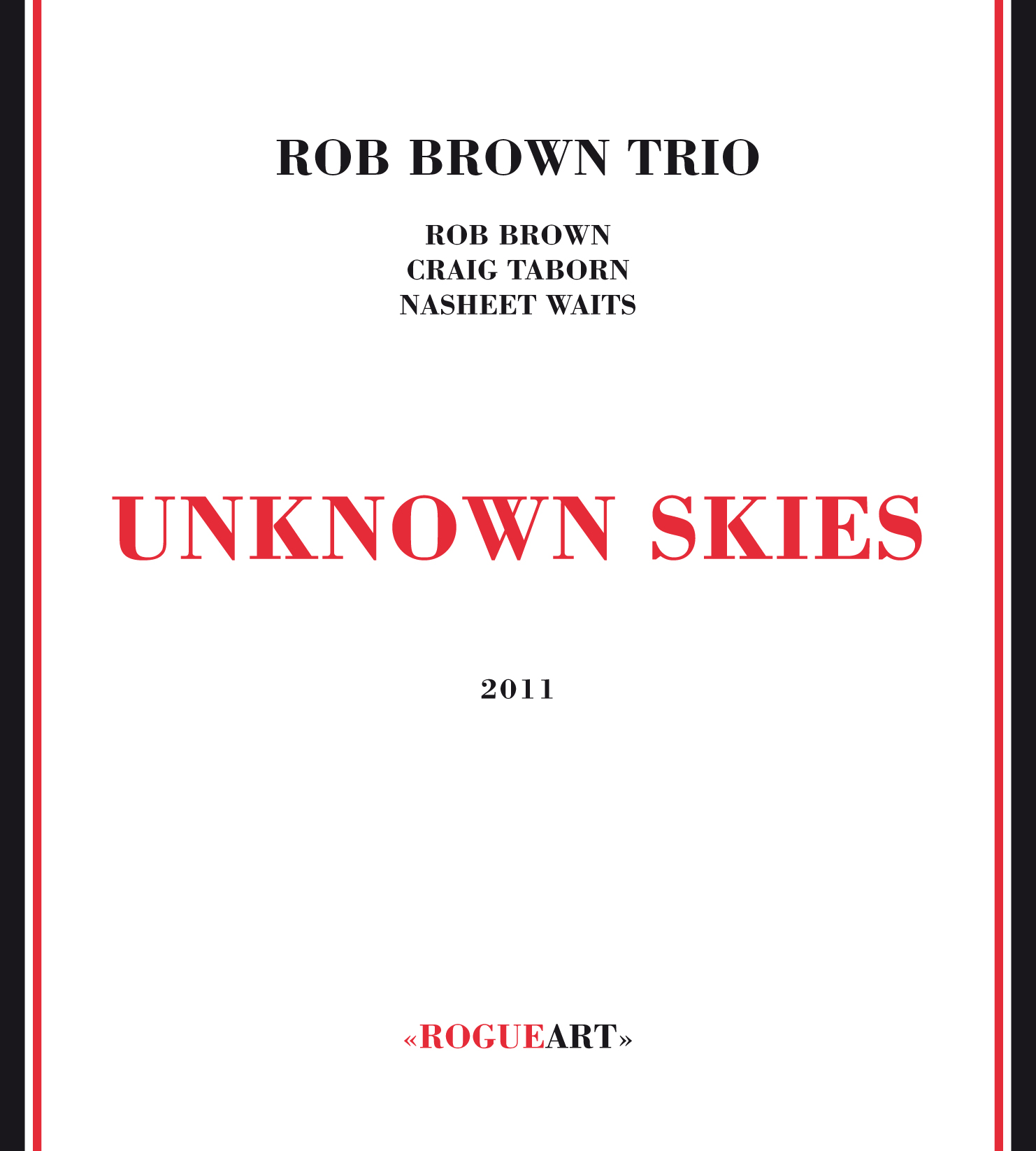 Front cover of the album UNKNOWN SKIES