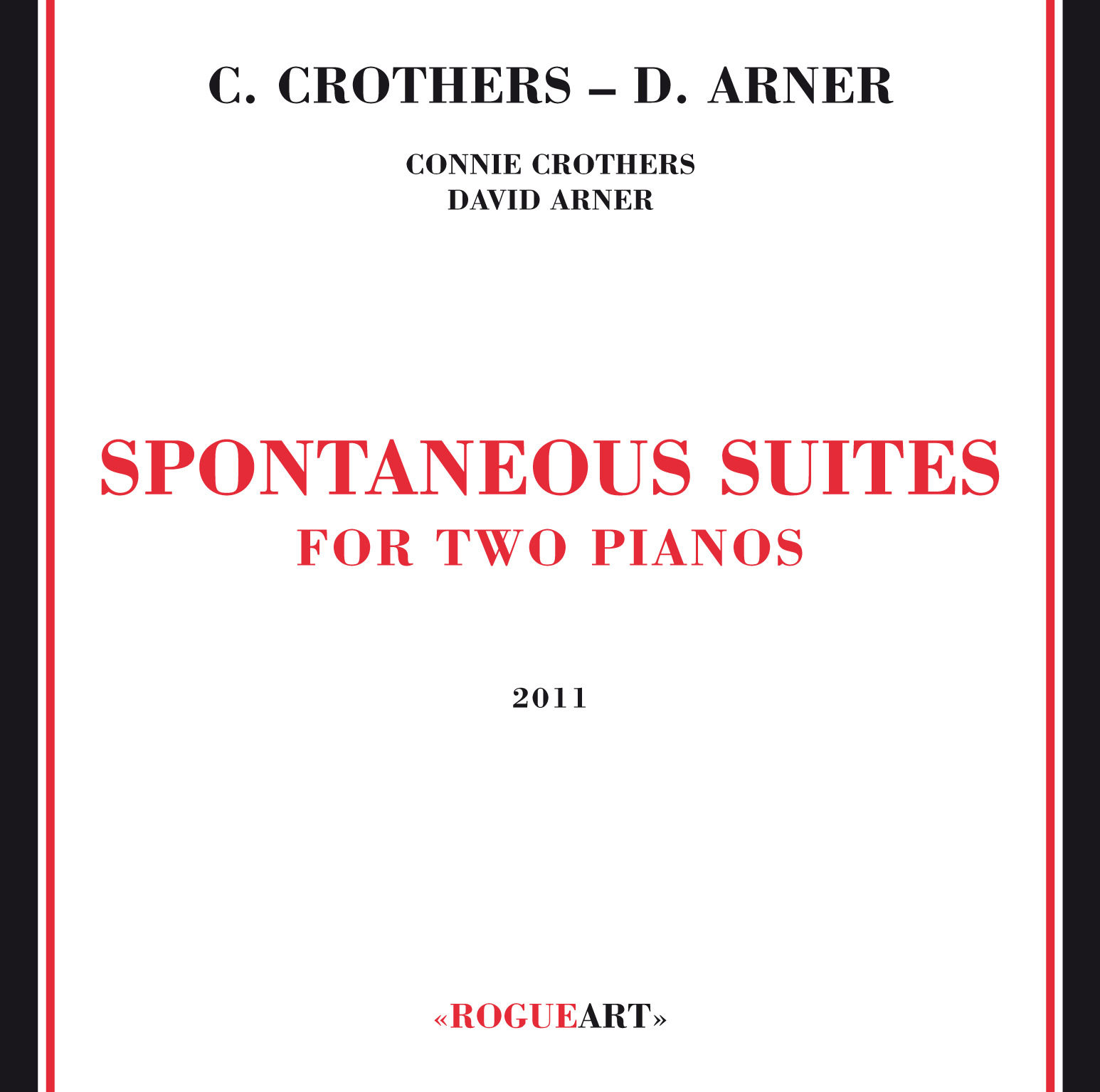 Front Cover of the box set SPONTANEOUS SUITE FOR TWO PIANOS