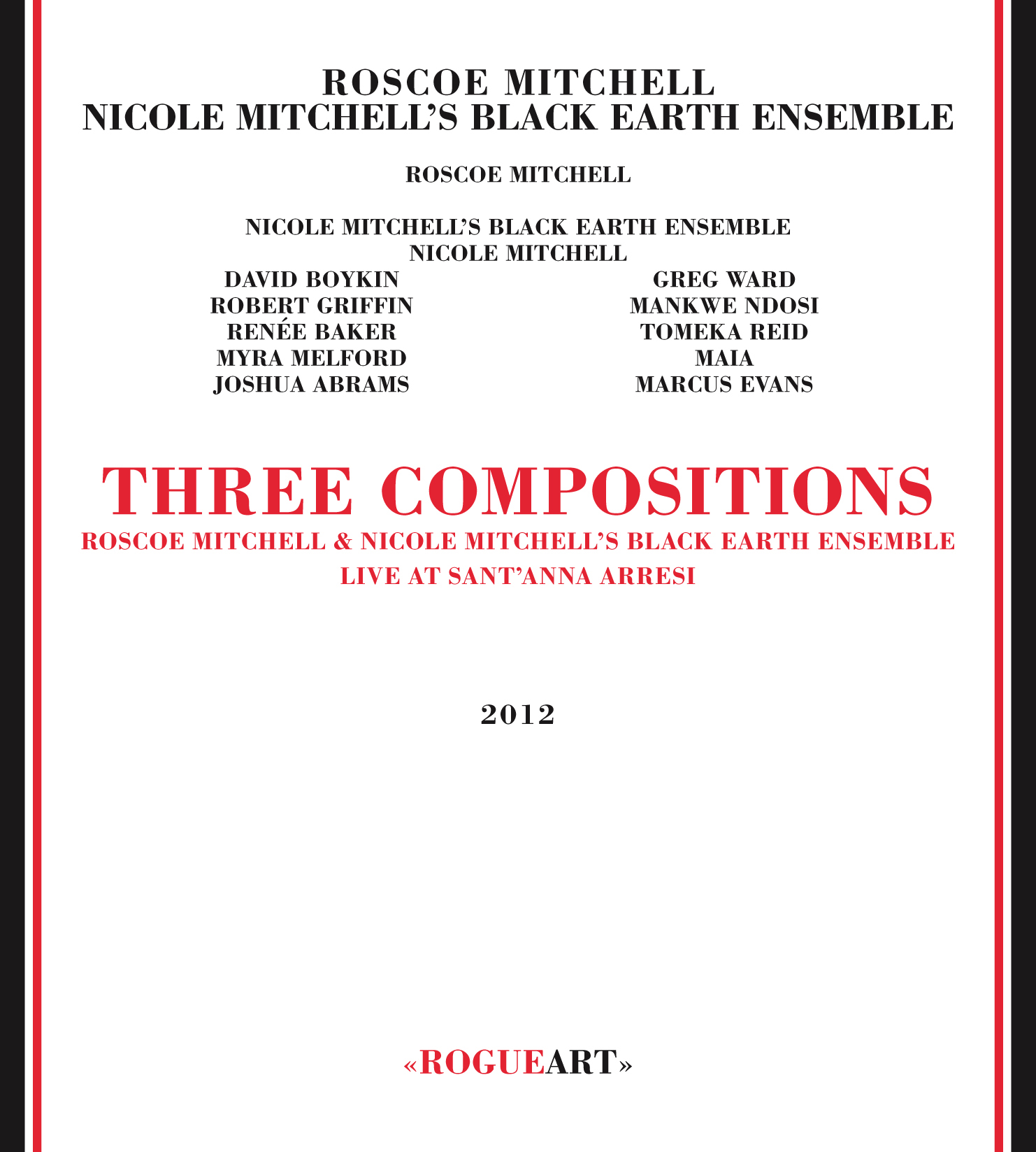 Front cover of the album THREE COMPOSITIONS