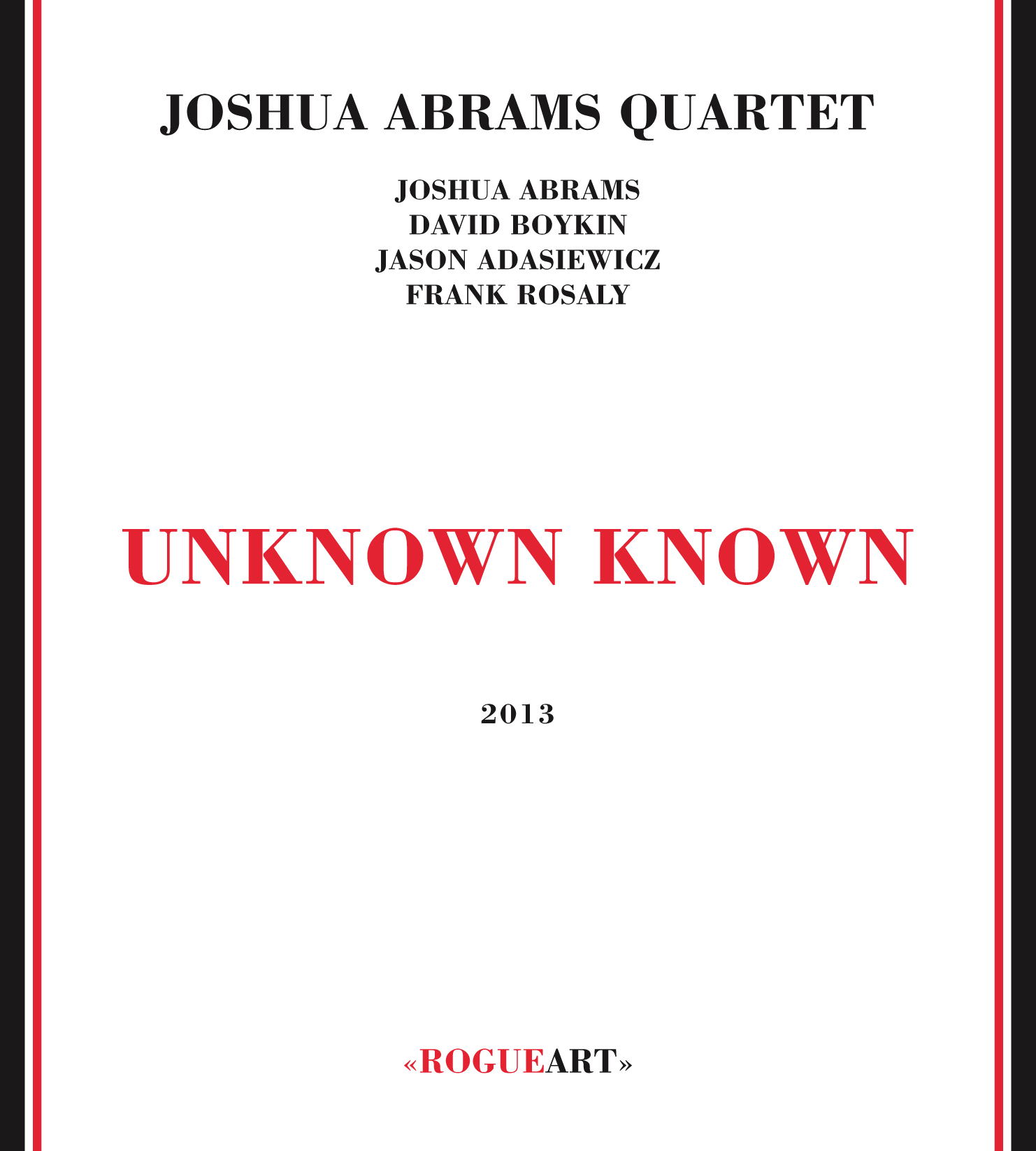 Front cover of the album UNKNOWN KNOWN