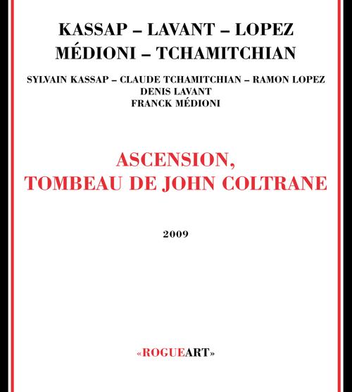 Front cover of the album ASCENSION, TOMBEAU DE JOHN COLTRANE