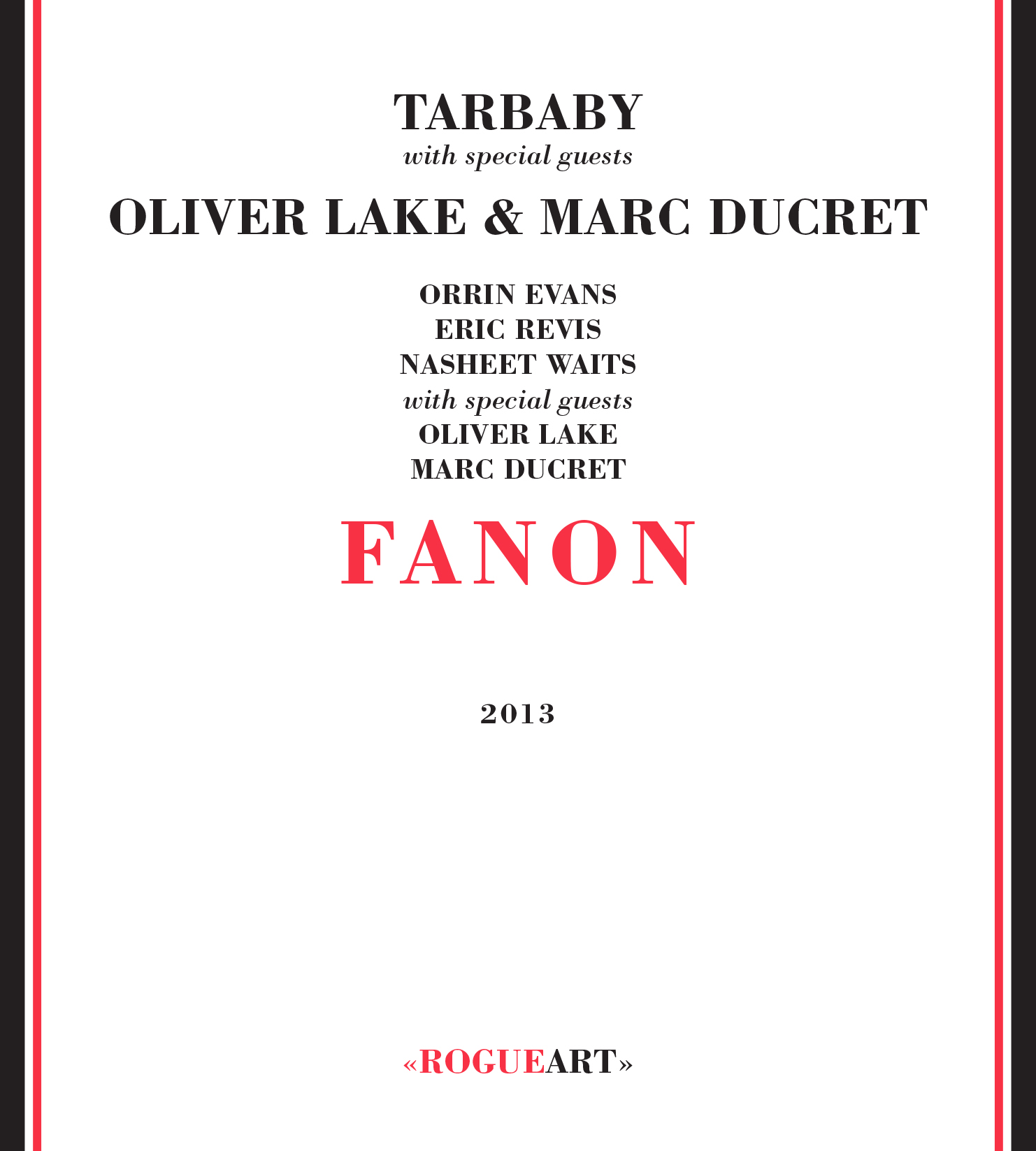 Front cover of the album FANON