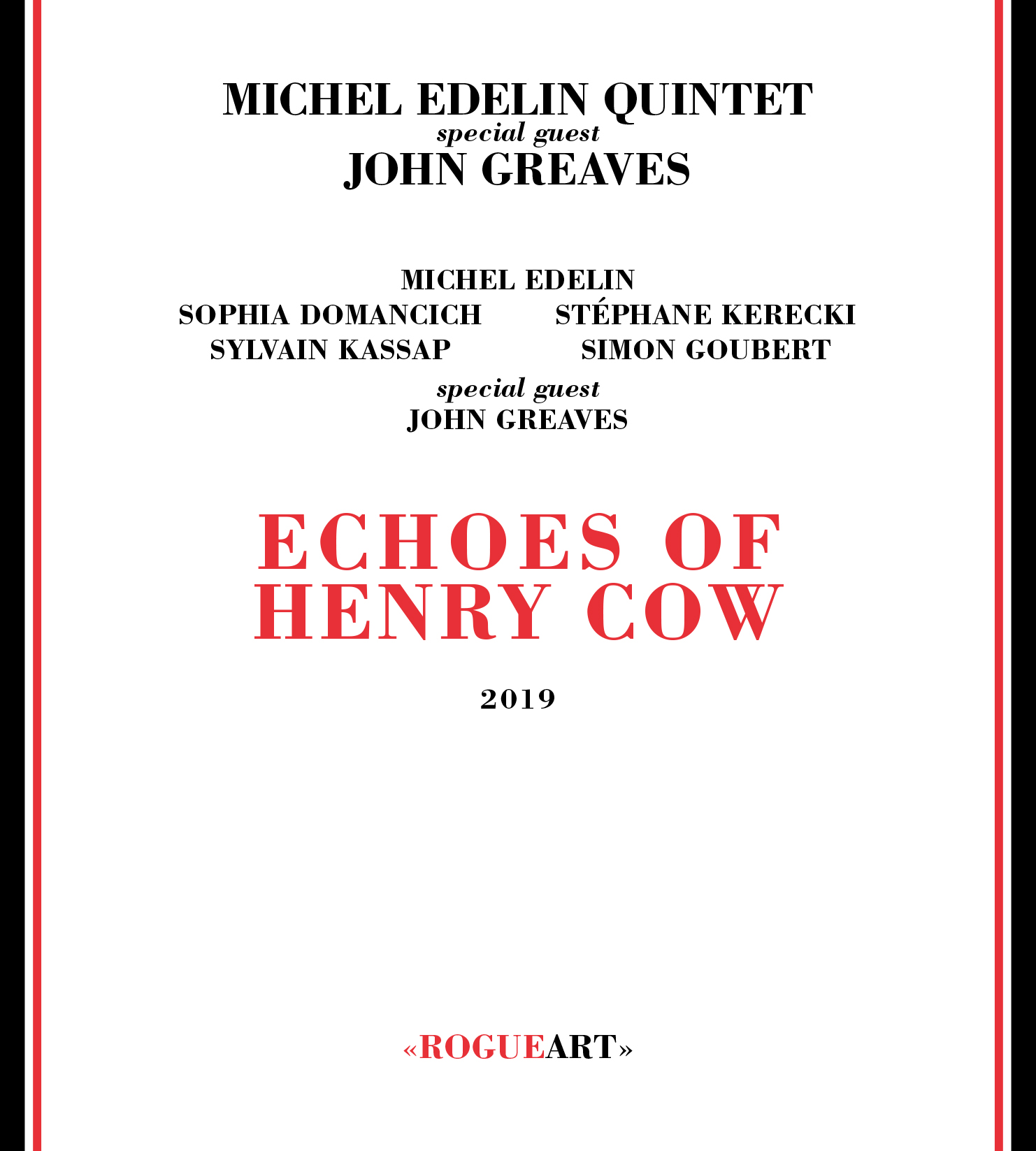 Front cover of the album ECHOES OF HENRY COW