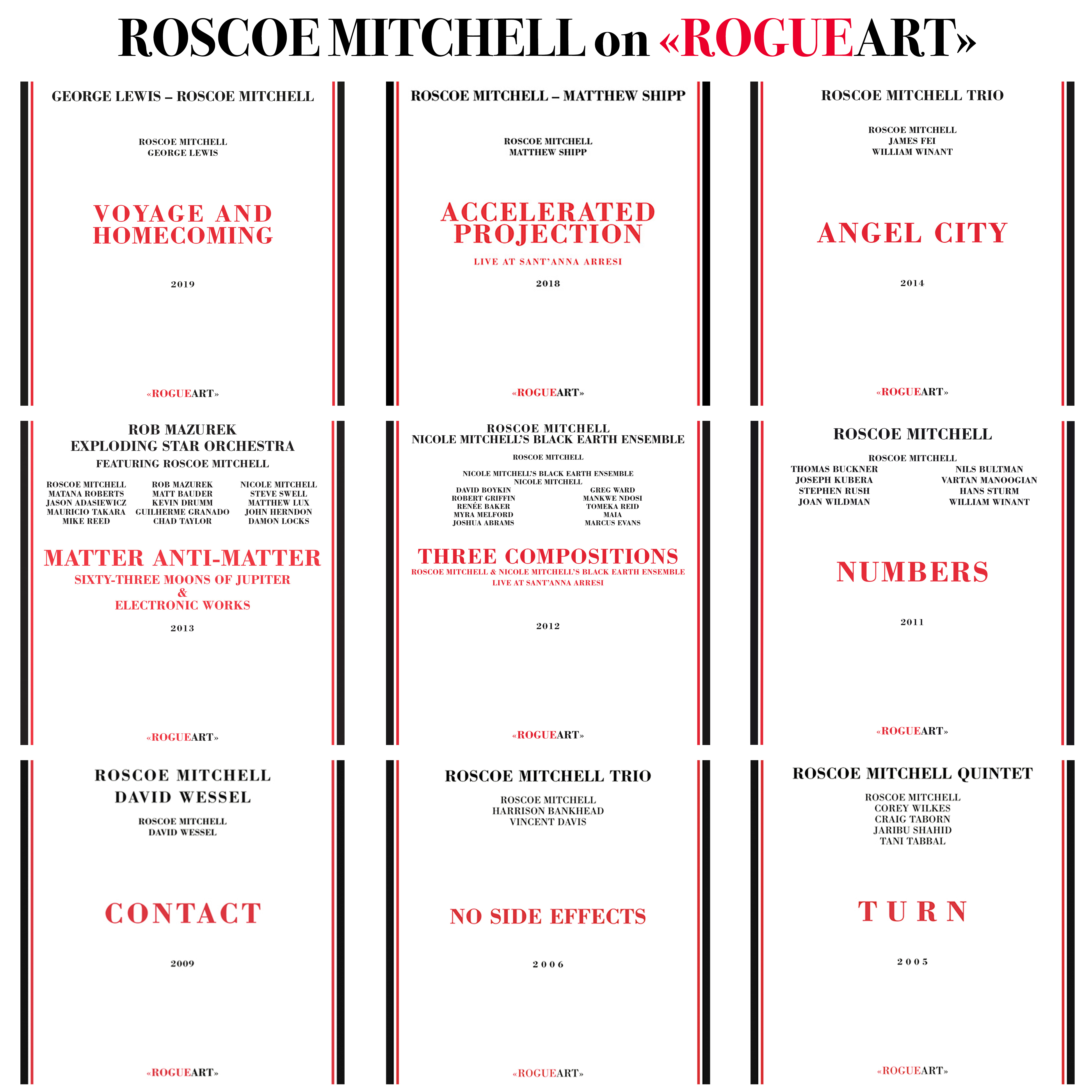 ROSCOE MITCHELL on ROGUEART