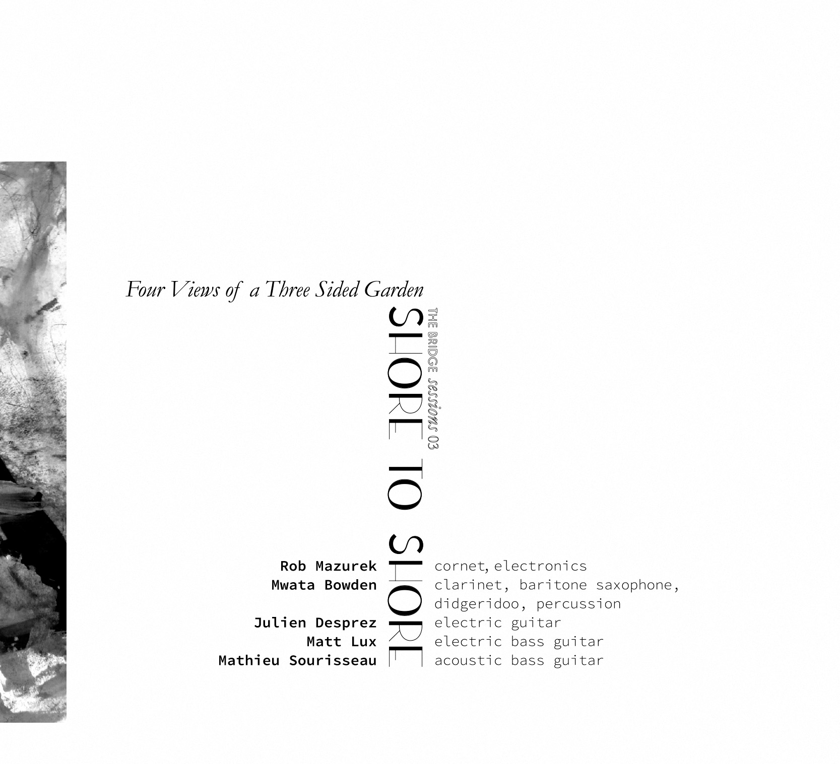 Front cover of the album SHORE TO SHORE